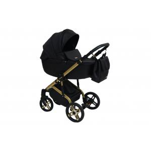 Stilo Gold Pram  - Black